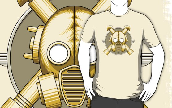 Art Deco Gasmask (Transparent) by Rustyoldtown