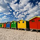 Bathing Box colors Muizenberg by Neil  Bradfield