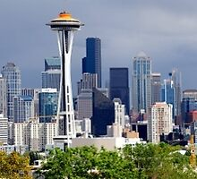 Seattle Skyline Panoramic by boxsmasher