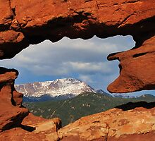 Window to Pikes Peak by Bill Hendricks