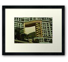 Feng Shui architecture Framed Print