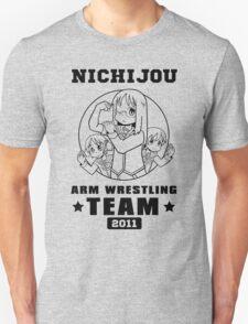 Nichijou Arm Wrestling Team - Black T-Shirt