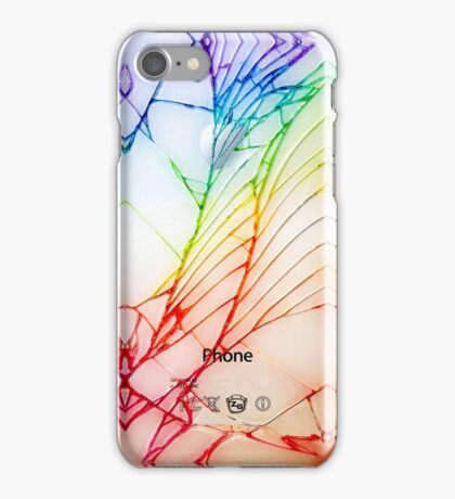 Broken Damaged Cracked out back White iphone Photograph iPhone Case/Skin