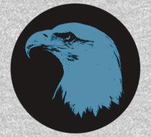 Bald Eagle in Blue T-Shirt by Mark Podger