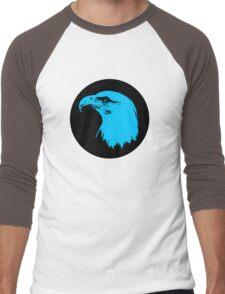 Bald Eagle in Blue T-Shirt Men's Baseball ¾ T-Shirt