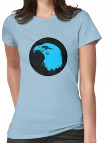 Bald Eagle in Blue T-Shirt Womens Fitted T-Shirt