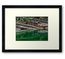 Falling into Reflection Framed Print