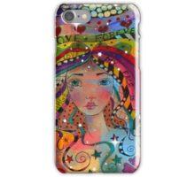 Whimiscal Girl Love Forever iPhone Case/Skin