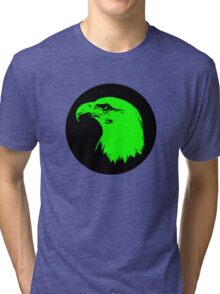 Bald Eagle in Green  Tri-blend T-Shirt