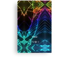 Broken Damaged Cracked out back Black iphone Photograph Canvas Print