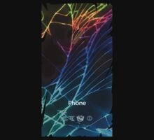 Broken Damaged Cracked out back Black iphone Photograph Kids Clothes