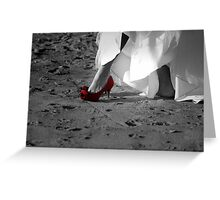 Red Bridal Shoe Greeting Card