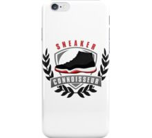 Sneaker Connoisseur-J11 Bred iPhone Case/Skin