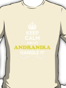 Keep Calm and Let ANDRANIKA Handle it T-Shirt