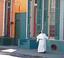 Sunday Stroll in the French Quarter by Lesley Rosenberg