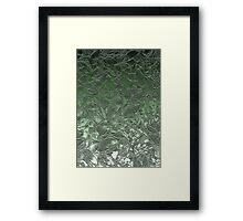 Grunge Relief Floral Abstract Framed Print