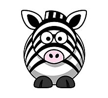 Cartoon Zebra Photographic Print