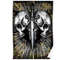 Skull-Dagger Heart Poster