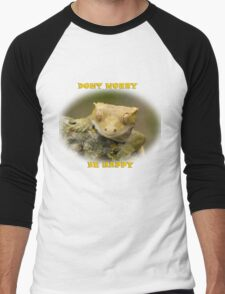 Be happy Men's Baseball ¾ T-Shirt