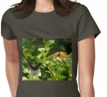 Wings And Blooms Womens Fitted T-Shirt