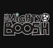 The Mighty Boosh – Black Writing & Mask Kids Clothes