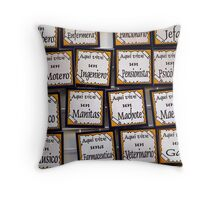 Wall Plaques Throw Pillow
