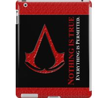 Nothing is true everything is permitted typograph iPad Case/Skin
