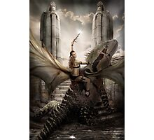 My wife on a Dragon  Photographic Print