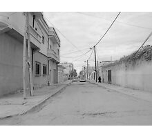 she is a shadow on the street but a mountain in their lives Photographic Print