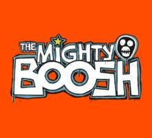 The Mighty Boosh – Dripping Blue Writing & Mask by PonchTheOwl