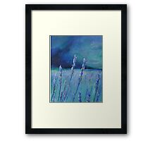 Lavender Digital and Arcylic Impressionistic Abstract Framed Print