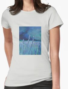 Lavender Digital and Arcylic Impressionistic Abstract Womens Fitted T-Shirt