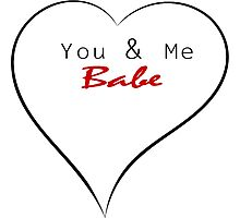 You & Me Babe Photographic Print
