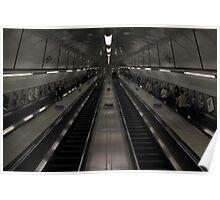 Escalators on the London Underground Poster