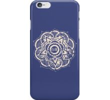 White Lotus (Blue) iPhone Case/Skin