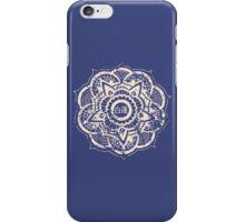White Lotus (Blue) iPhone Case/Skin
