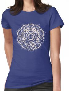 White Lotus (Blue) Womens Fitted T-Shirt