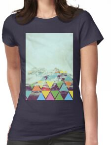 Triangle Mountain Womens Fitted T-Shirt
