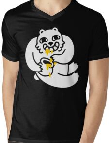Happy Bear Mens V-Neck T-Shirt