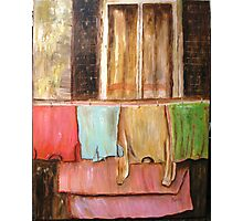 Laundry , Acrylic painting Photographic Print