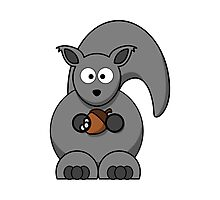 Cartoon Squirrel Photographic Print