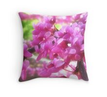 Redbud with Orton Effect Throw Pillow