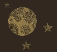 Moon and Stars- Brown T-Shirt
