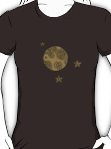 Moon and Stars- Brown T-Shirt