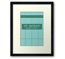 ST. PATRICK Subway Station Framed Print