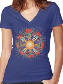 Moon Vibes ART Women's Fitted V-Neck T-Shirt