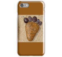 Foot print in the sand iPhone Case/Skin