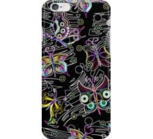 Abstract Neon Butterflies iPhone Case/Skin