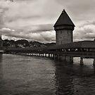 Chapel Bridge in Lucerne, Switzerland by Laura Cooper