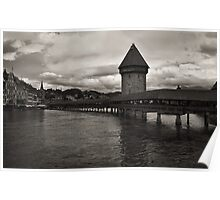 Chapel Bridge in Lucerne, Switzerland Poster